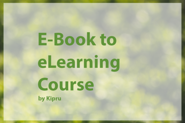 Kipru eLearning - eBook to eLearing Course